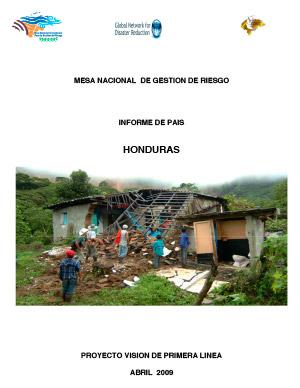 INFORME SOBRE GESTIÓN INTEGRAL DEL RIESGO DE DESASTRES