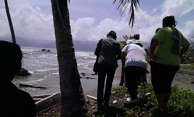 La MNIGR región Valle de Sula inspecciona daños en Barras Motagua y Cuyamel por el Cambio Climático.